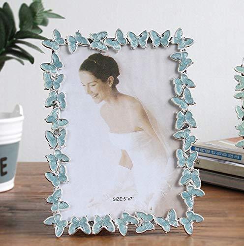 fotolijst Vlinder Metalen fotolijst Bruidsjurk fotolijst Blauw 6 Inch