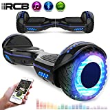 RCB Patinete Eléctrico Scooter de Auto-equilibrio Luces LED Integradas Bluetooth Regalo para Niños y Adultos