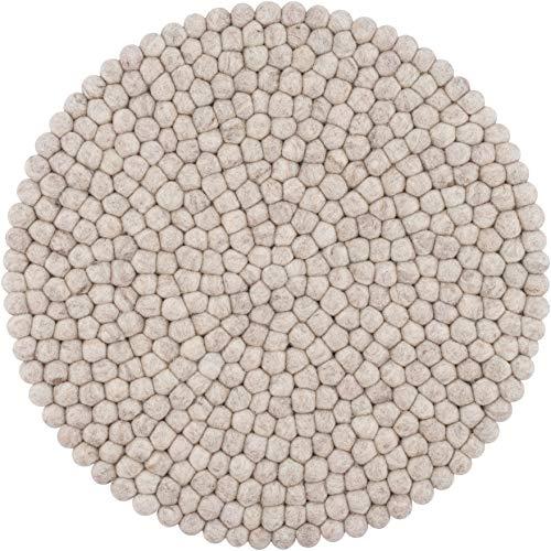 myfelt Béla Sitzauflage, Filzkugel, Wolle, rund 36 cm