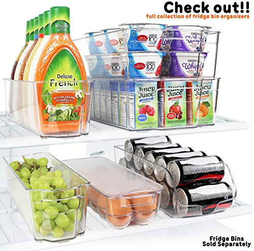 Greenco Stackable Refrigerator Egg Storage Bin With Lid, Stores 14 Eggs, Clear