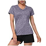 Camiseta Deportiva Mujeres Cuello Manga Corta Humedad Camisas atlética Deporte