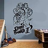 Geiqianjiumai Street Fighter Sticker Mural Décor À La Maison Garçon Salon Vinyle 58X95CM