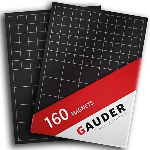 GAUDER Magnetplättchen selbstklebend | Magnetstreifen | Magnetische Plättchen für Fotos, Postkarten & Schilder