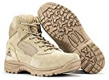 RYNO GEAR Tactical Combat Boots with Coolmax Lining (Beige) (6, 13)
