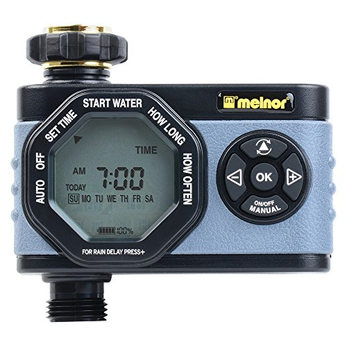 Melnor Simple and Flexible Programming, Easy Manual Override 53015 Single-Outlet Digital Water Timer, 1 Zone