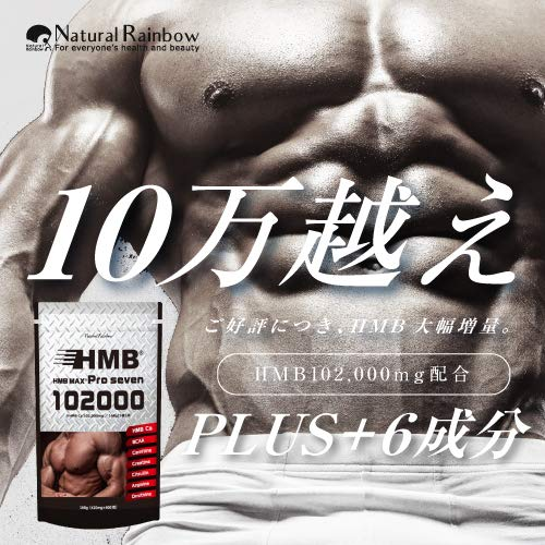 【102,000mg配合】HMBMAXPROseven400粒HMB100,200mg&BCAAクレアチンシトルリンアルギニンサプリメント