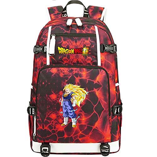 ZZGOO-LL Dragon Ball Son Goku/Vegeta IV/Torankusu Bolsa de Hombro Mochila para Exteriores para un montón de Almacenamiento Bolsa USB Unisex-C