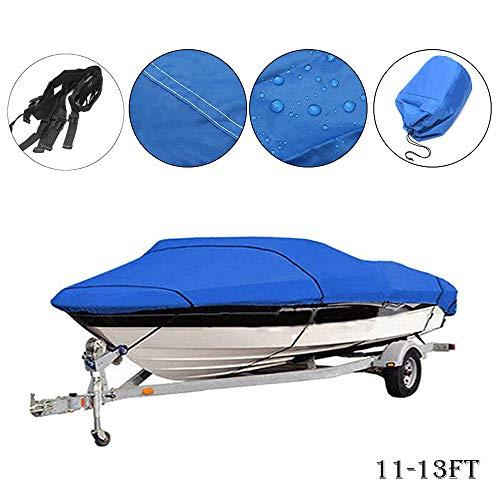 MASO - Funda para barco de 3,4 a 4 m, resistente al agua, protección contra rayos UV, casco en V