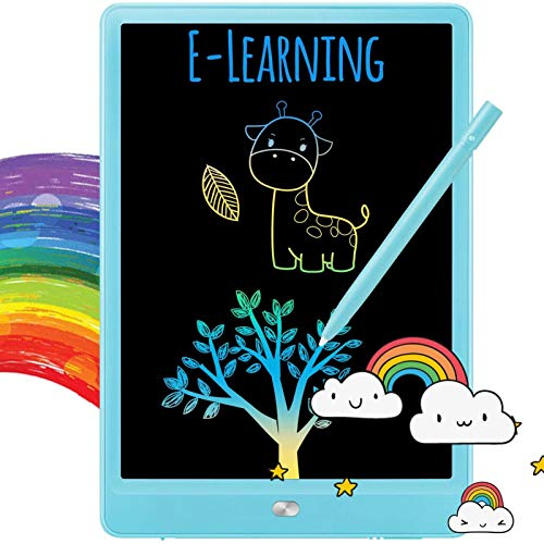 LCD Writing Tablet Kids 10 Inch,LCD Writing Tablet Drawing Pad, Colorful Screen Doodle and Scribbler Boards for Kids, Traveling and Educational Learning Toys for 2 3 4 5 6 Year Old Boys and Girls