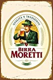 Birra Moretti Italian Italy Beer Blechschilder Vintage Metall Poster Warnschild Retro Schilder Blech Blechschild Wanddekoration Malerei Bar Cafe Restaurant Garten Park