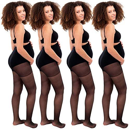 4 Pack 20 Denier Naadloze Panty Plus Size Control Top Sheer Panty Moederschap voor Vrouwen Maat 2-14