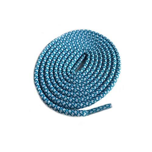 Schnürsenkel für Wanderschuhe, Schnürsenkel, Ersatzleine, Schnürsenkel, Schnürsenkel, rund, 27 Weiß, Smaragdblau, 150 cm