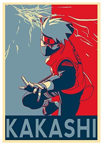 """Póster de Naruto """"Propaganda"""" Kakashi Hatake 15x23"""" (38 x 58 cm) (380 x 580 mm)"""