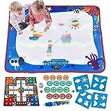 LISOPO- 2 en 1 Aqua Magic Doodle Tapis De Chambre Cadeaux Jouets éducatifs pour Enfants Jeu D'ÉChecs Volants, Dessin Peinture, Multicolore