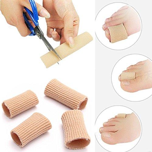 CAMTOA 6 tubi in silicone Gel, con protezione per dita dei piedi, dita imbottiti per offrire maggiore Comfort-a, funzionamenti compresi duroni, calli, Blister, ecc, colore: rosa