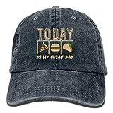 今日は私のチートデーですおかしい食べ物綿調節可能なデニム帽子野球帽