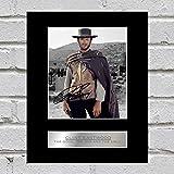Photo dédicacée de Clint Eastwood - Le Bon, la Brute et le Truand