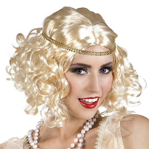 20 Années 30 Charleston perruque pour femme Blond