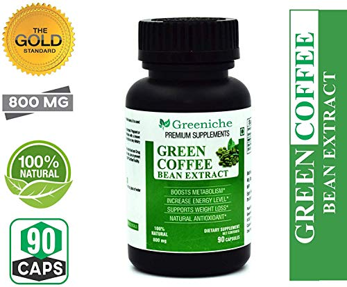 Greeniche Green Coffee Bean Extract 800 Mg For Weight Loss 90 Capsules