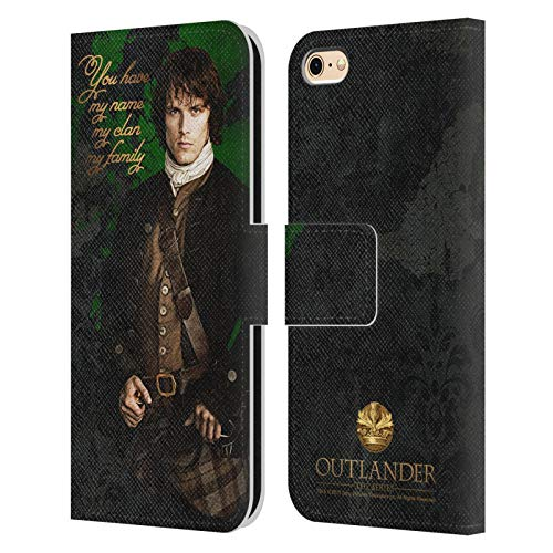 Head Case Designs Licenza Ufficiale Outlander Jamie Primi Piani Cover in Pelle a Portafoglio Compatibile con Apple iPhone 6 / iPhone 6s