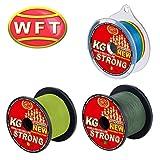 WFT KG Strong 600m 0,18mm 22kg, geflochtene Schnur, Meeresschnur, Angelschnur, Geflechtschnur, Farbe:Multicolor