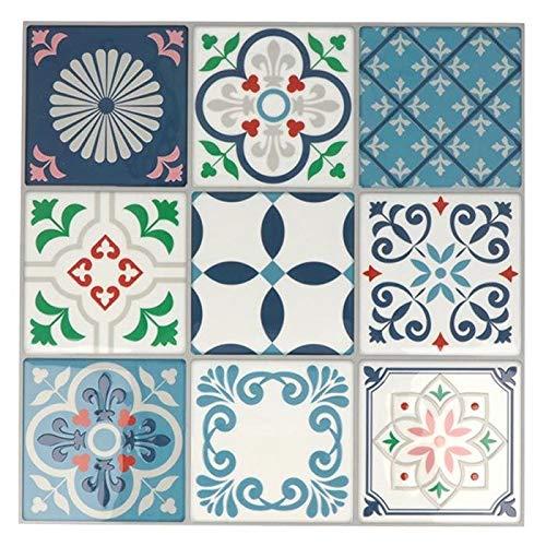 18 Fliesenaufkleber Mosaikfliesen 8 x 8 cm - Lissabon