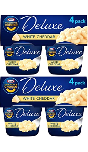 Deluxe White Cheddar Macaroni & Cheese Easy Microwavable Dinner (8 Count, 2.39 oz Cups)
