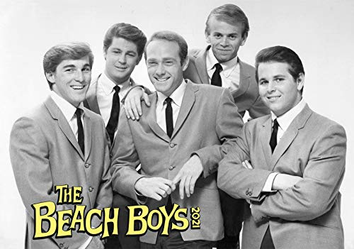 Calendario de pared 2020 [12 páginas 8 x 11 pulgadas] Beach Boys Rock N Roll Vintage Music Póster Photo Magazine Cover