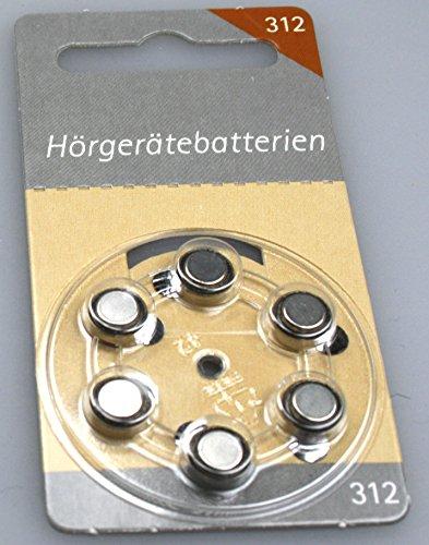 Hörgeräte Batterien Größe 312er 6 Stück