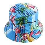 Sombrero De Pescador para Mujer, Impresión De Doble Cara, Sombrero para El Sol, Sombrero De Lavabo Plegable De Viaje Al Aire Libre De Verano P Talla Única