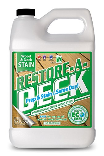 Restore-A-Deck Wood Stain for Decks, Fences, Wood Siding (1 Gallon, Natural)