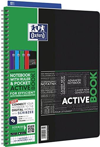 OXFORD 400019520 Schüler Spiralnotizbuch angeschlossen, SOS Notes 210 x 297 mm,160 Seiten - farblich sortiert