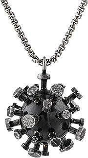 HJJ Collar Colgante de Acero de Titanio, decoración sólida Retro 2020, Adecuado para Regalos, colección