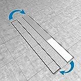 Duschrinne 70cm Edelstahl Ablaufrinne Siphon mit Geruchsstop Bodenablauf Duschablauf Bodenbefestigung