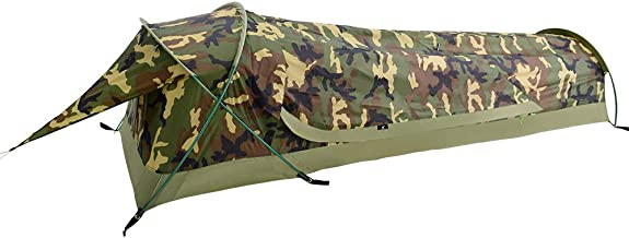 GEERTOP Ultralight Compact Single 1 Person Waterproof Bivy II Tent for Backpacking Camping Military - Fast Easy Setup