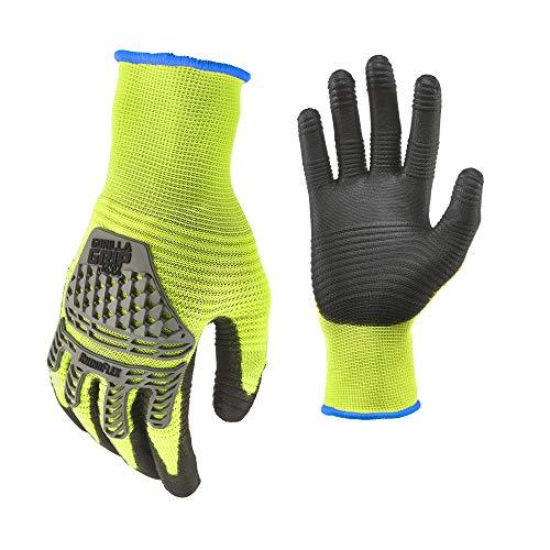 Gorilla Grip Herren Handschuhe, High Vis Yellow and Black, Large
