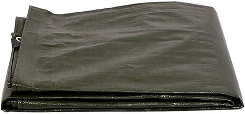 Mysida Tarpaulin HKL Baches Robustes  Couverture de remorque de Tente imperméable au Sol  Bache Multicouche de Plusieurs Tailles et épaisseurs  6 mil - Vert (Taille   3m5m)
