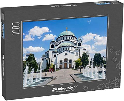 fotopuzzle.de Puzzle 1000 Teile Die Kirche St. Sava in Belgrad, Serbien, eine der größten orthodoxen Kirchen der Welt (1000, 200 oder 2000 Teile)
