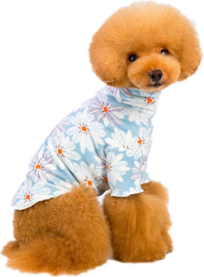 PZSSXDZW Vestiti dellanimale Domestico Collo Alto Morbido Base Morbida Vestiti per Cani Pigiama per Cani Domestici Purple Small