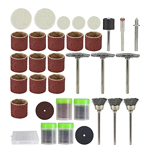 Accesorio de herramienta giratoria para mini taladro 146 piezas amoladora pulido lijado conjunto de herramientas abrasivas-Caja de 146 piezas