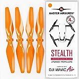 Hélices modernisées MAS pour Drone DJI Mavic AIR de Couleur Orange, Un kit de 4 pièces