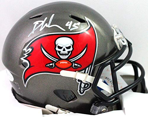 Devin White Autographed Tampa Bay Bucs 2020 Speed Mini Helmet - Beckett W White