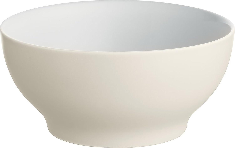 Alessi Dc03 54 Wy Tonale Petit Bol en Céramique Stonouveauare, blanc jaune, Set de 4 Pièces