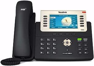 Yealink SIP-T29G IP Phone, 16 Lines. 4.3-Inch Color Display. USB 2.0, Dual-Port Gigabit Ethernet, 802.3af PoE, Power Adapter Not Included