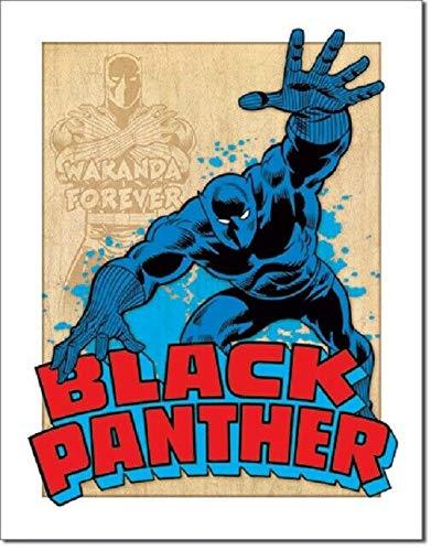 Wenyisign Black Panther Superhero DC Comic Retro Disstressed Wall Decor - 8'X12' Tin Metal Sign