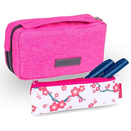 Pack 2 estuches para diabéticos, Estuche isotérmico rosa Diabetic's, Estuche isotérmico rosa Insulin's, Elite Bags