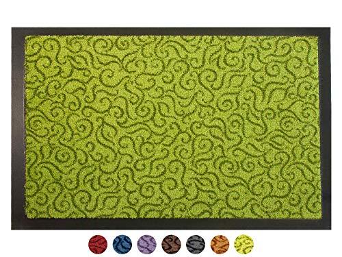 Primaflor - Ideen in Textil Schmutzfangmatte Türvorleger Brasil Sauberlaufmatte - 40x60 cm, Grün, Fußmatte rutschfest, Waschbar, für Innen und Außen Geeignet