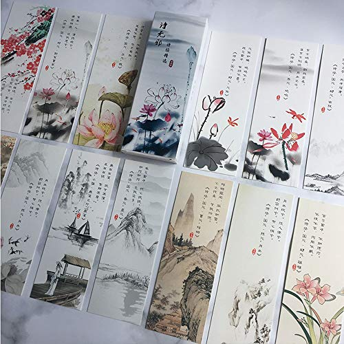 Bladwijzers Bookmark Book Marks-Chinese Stijl Landschap schilderijen, Vintage/Beste cadeau voor je vrienden, Verjaardagscadeaus, Kerstcadeaus/30-delige set Nee, nee. 3