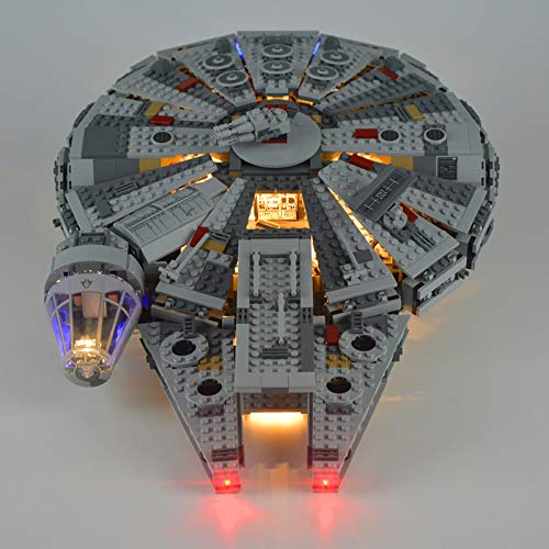 USB Juego de Luces de para Halcón Milenario Modelo de Bloques de Construcción, Kit de luz LED Compatible con Lego 75105 (Modelo Lego no Incluido)