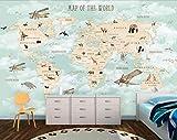 Fotomurales Papel Pintado 3D Fotográfico Mapa Del Mundo De Ensueño Simple Salón Dormitorio...